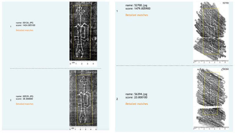Left: beta radiography, Right: pencil rubbings. Images from the Watermarks in Incunabula Printed in the Low Countries dataset, hosted by the Koninklijke Bibliotheek of the Netherlands.