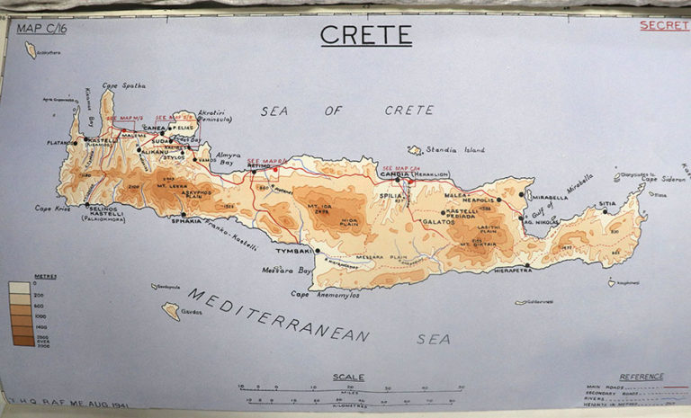 Sketch map of Crete, August 1941.