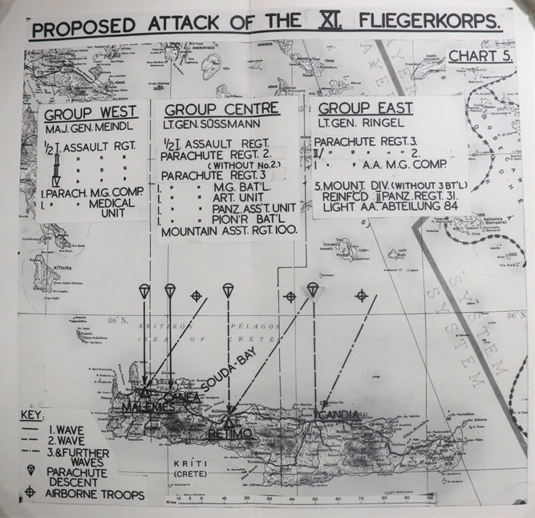 Sketch map of the German attack, 1941.