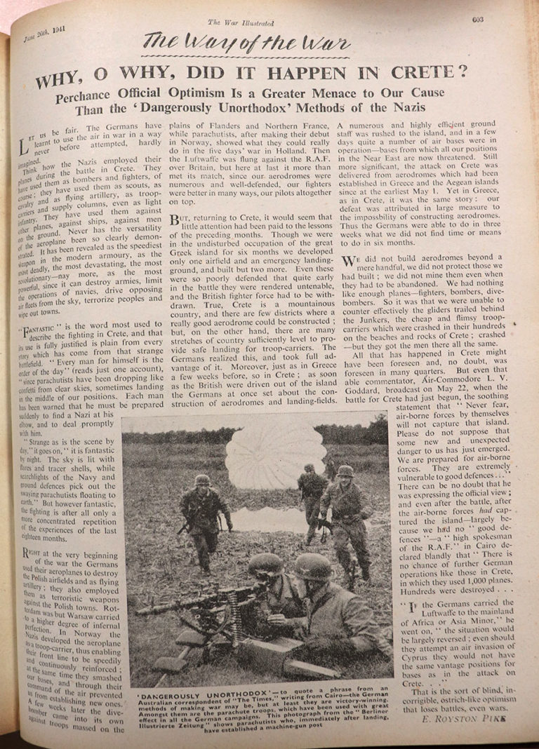 The War Illustrated article, 20 June 1941