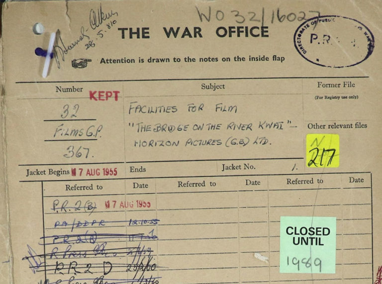 Cover of War Office file WO 32/16027.