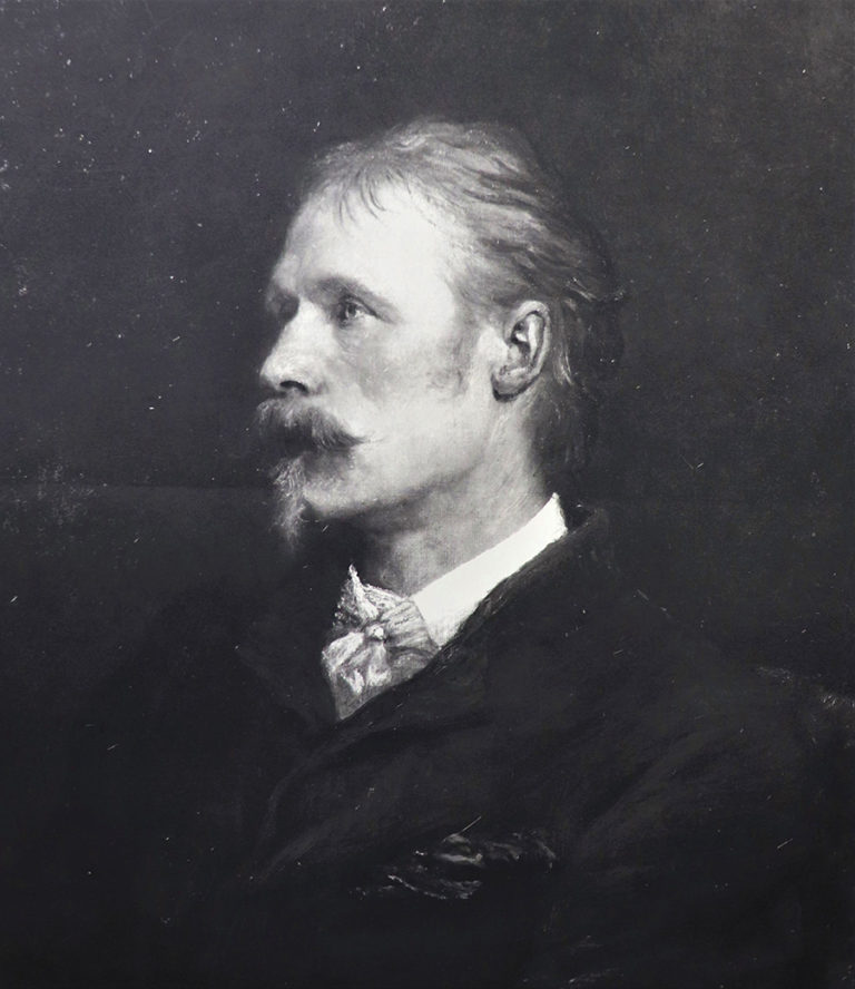 Frederick Hollyer's photograph of a portrait of Walter Crane painted by George Frederic Watts, 22 March 1897.