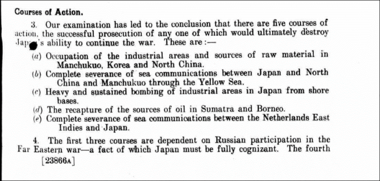 Joint Planning Staff report: 'Appreciation of the War against Japan', 30 May 1942.