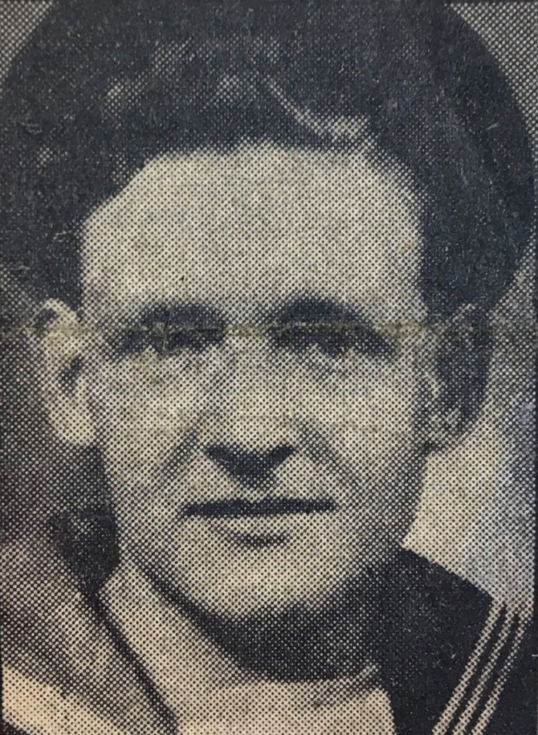 A black and white photograph of Able Seaman Keith Mayor was reproduced for a Sunday Express article which informed the British public of his murder, 17 June 1945.