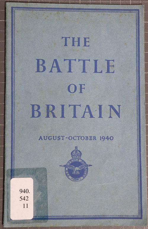 Front over of the book 'The Battle of Britain, August–October 1940', 1941.