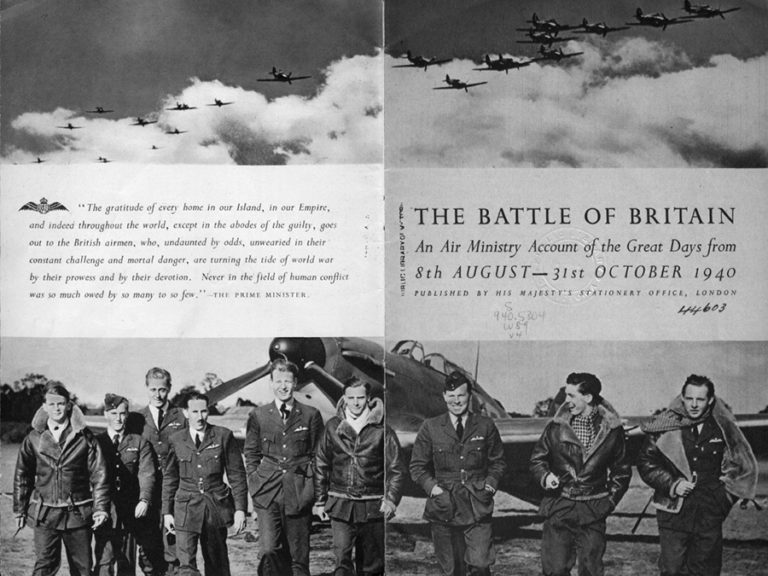 Pages 2 and 3 of the book 'The Battle of Britain'.