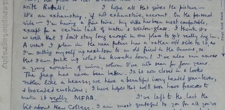 Extract from a written letter from Harry Bell to Hilary Jenkinson, dated 9 March 1945.