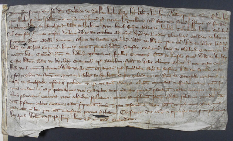 Request for the arrest of the abbot and monks of Rufford, 1314.