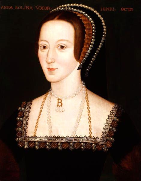 Portrait from 1536 of Anne Boleyn held by the National Portrait Gallery.