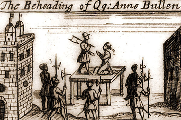 Near contemporary depiction of Queen Anne's execution.