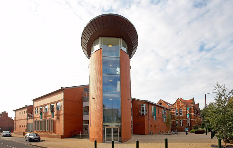 Colour photograph of the Treasure House, the modern building where East Riding Archives are based.