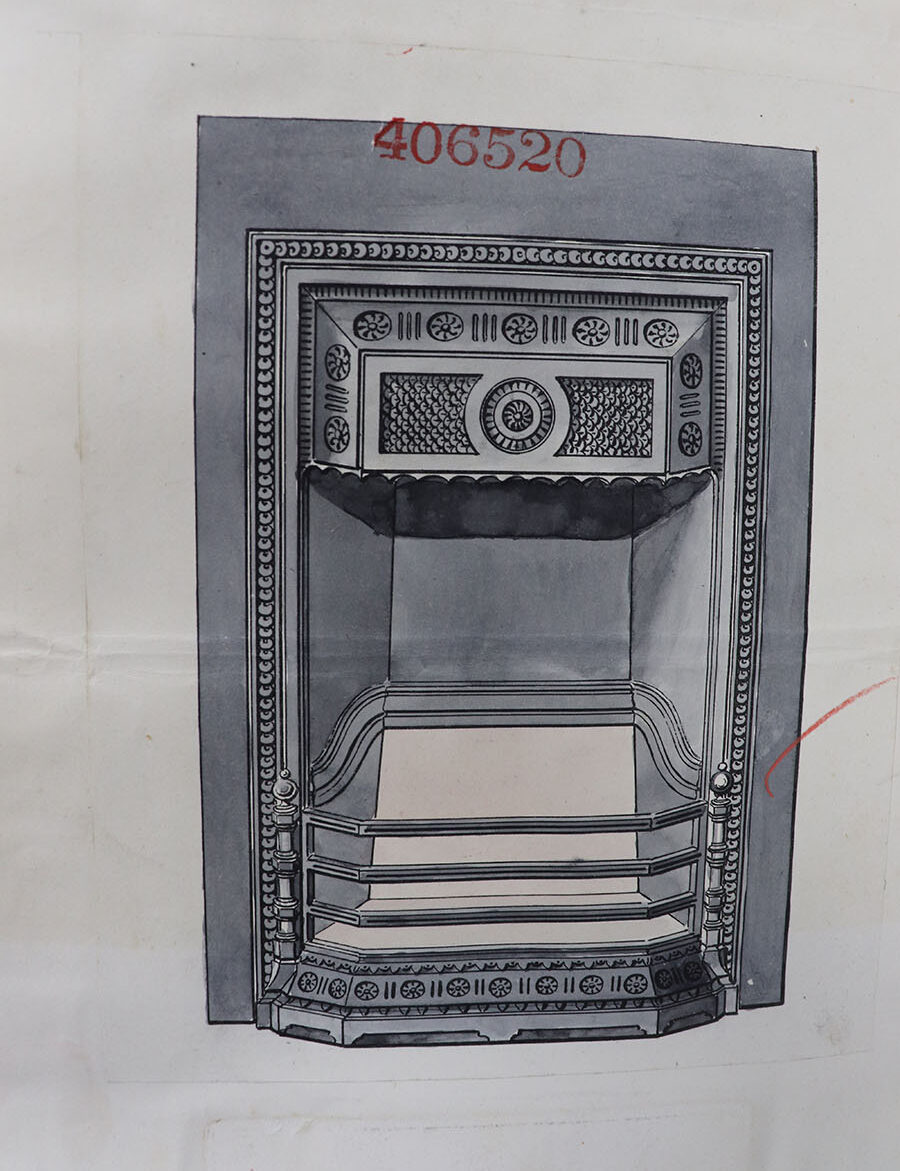 A great representation of a grate, The Coalbrookdale Company, Shropshire, 6 November 1883.
