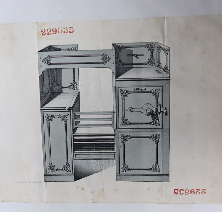 Ornamental design for a stove, Smith and Wellstood, Glasgow, 4 June 1869.