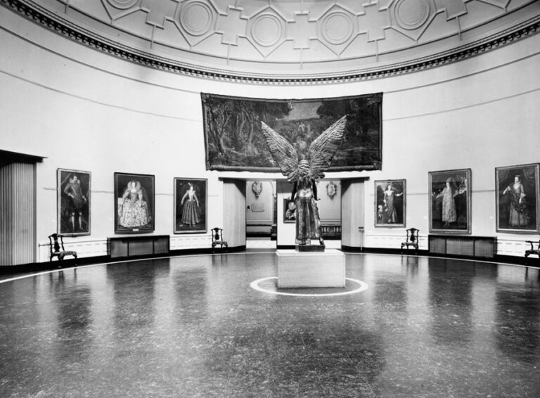 Birmingham Museums and Art Gallery Round Room showing the 'Lucifer' (1944-45) sculpture by Sir Jacob Epstein from the Birmingham Museums Trust Photo archive.