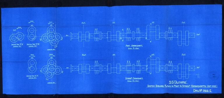 Olympic liner engine repairs blueprint.