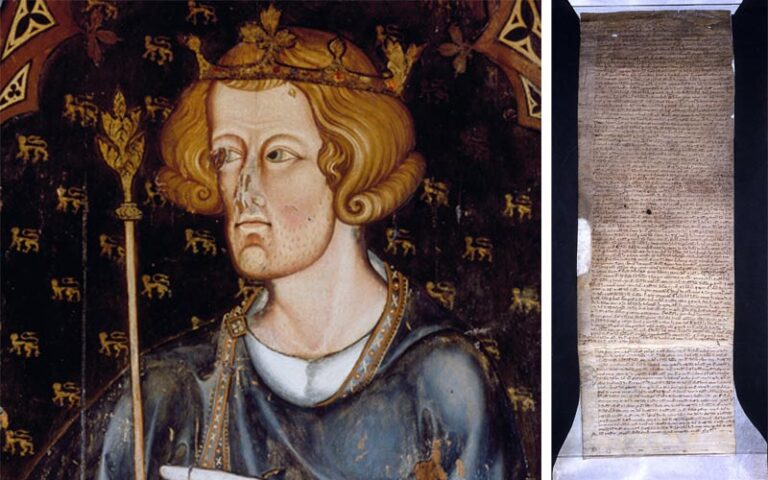 King Edward I, between 1272-1307, Westminster Abbey and the Hundred Rolls for Bunsty hundred in Buckinghamshire, 1278-1279.