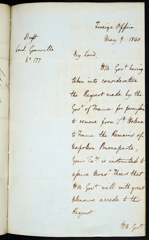 Letter from Palmerston to Granville, 9 May 1840.