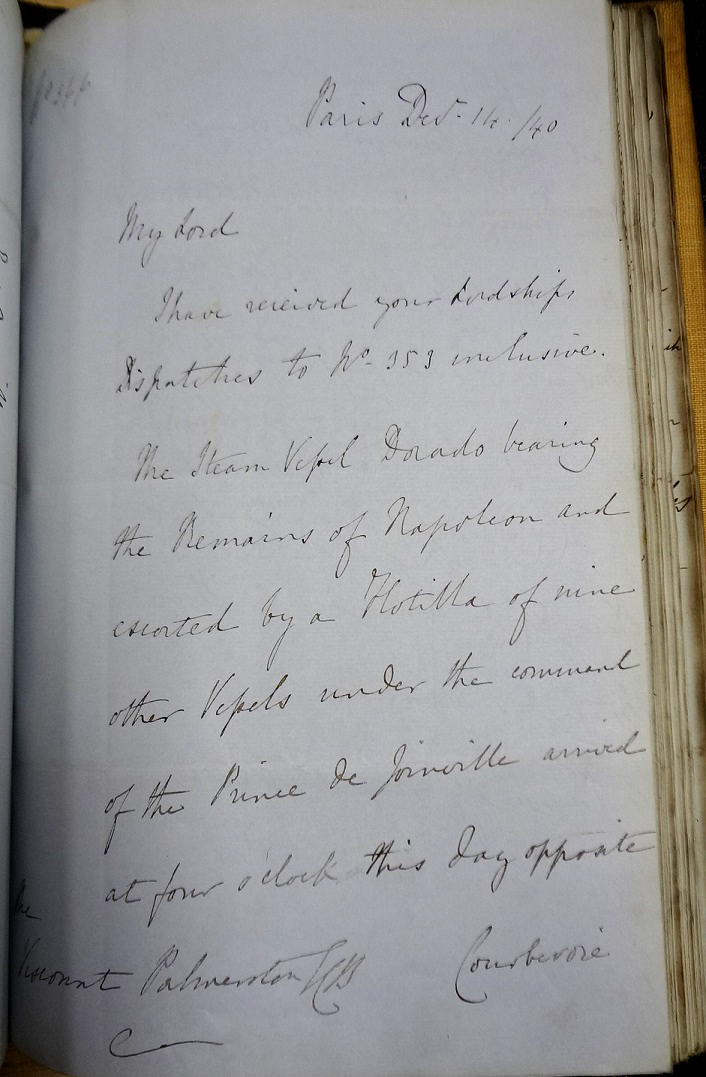 Letter from Granville to Palmerston, 14 December 1840.
