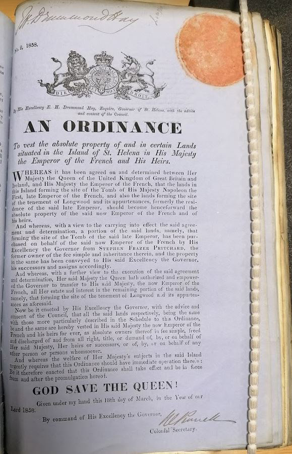 Ordinance of 18 March 1858.