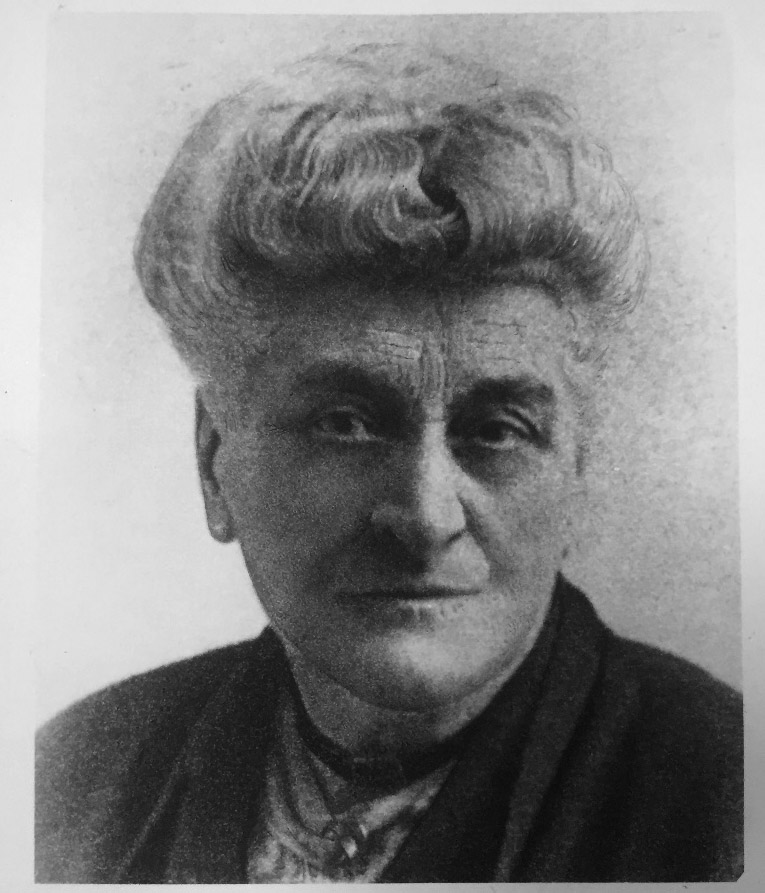 Black and white photograph of Ethel Gordon Fenwick in later life (unspecified date).