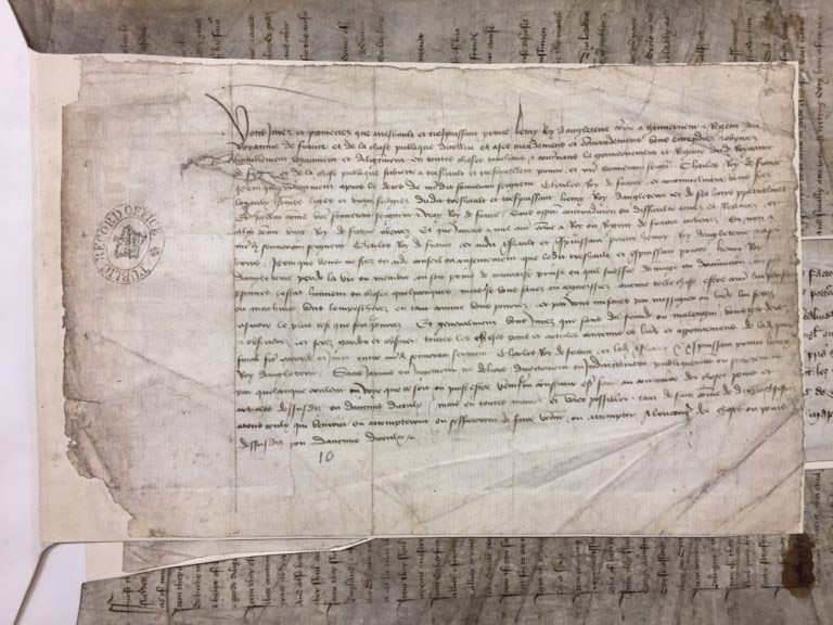 The draft oath of the Treaty of Troyes.