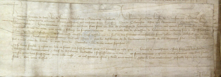 Privy seal warrant to issue under the great seal a commission appointing Duke Humphrey of Gloucester guardian of England.