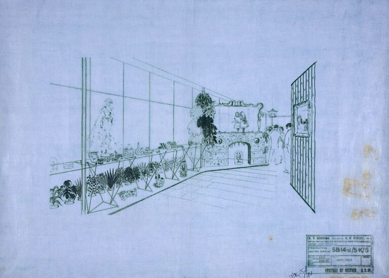 Drawing of the nature display.
