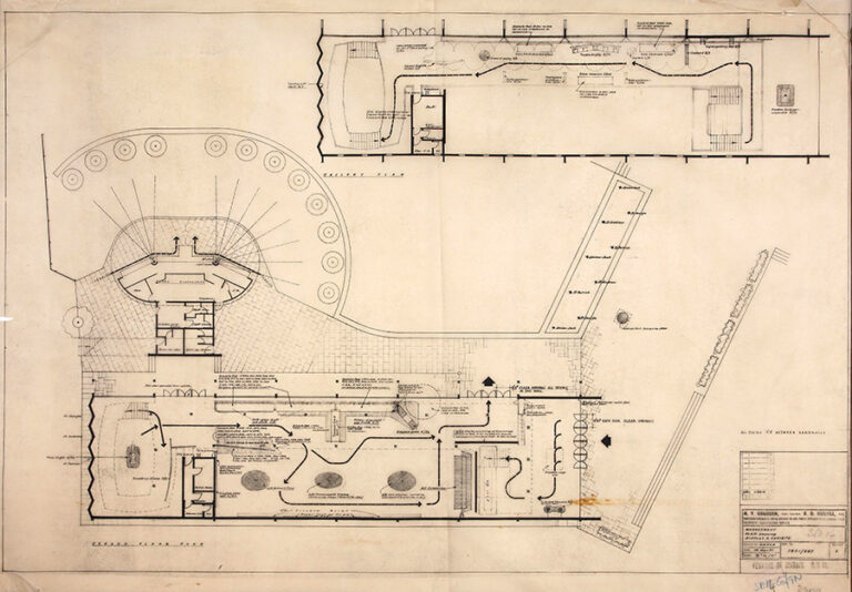 Detailed plan of the Lion and Unicorn Pavilion.
