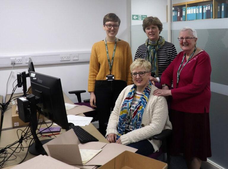 BT 373 volunteers Hope, Catherine, Sheila and Lynne.