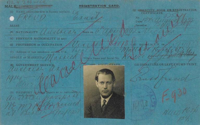 Alien Registration card for Ernst Freud.