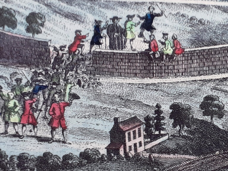 Anonymous illustration of the 1751 Beating of the Bounds 'Ascension Day Incident'.