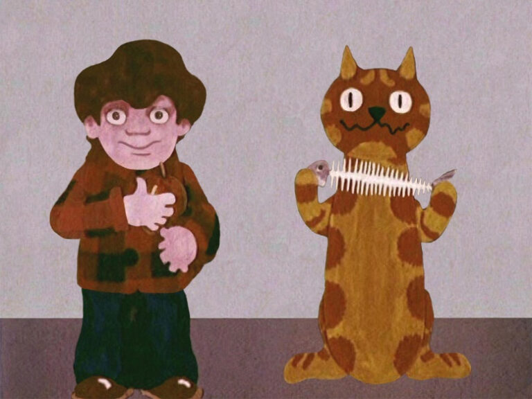Still image from the 1973 film 'Strangers' which was part of the 'Charley says' series of children's safety films.
