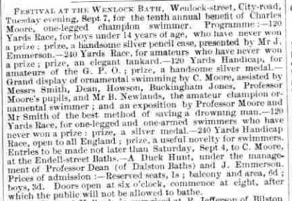 'Festival at the Wenlock Bath', Bell's Life in London, 28 August 1869, p. 7.