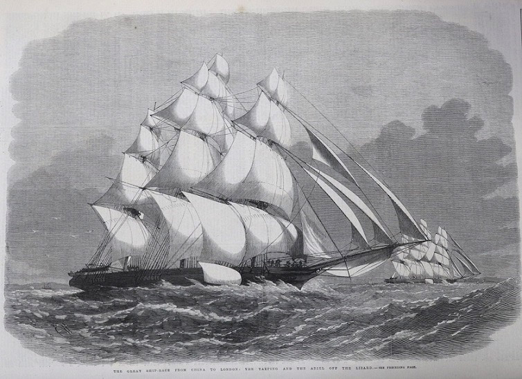 Illustrated London News, 22 September 1866 p276. Taeping and Ariel off The Lizard.